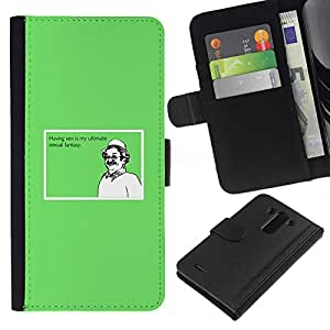 KingStore / Leather Etui en cuir / LG G3 / Sexo último Fantasía divertido cita ideal de hombre