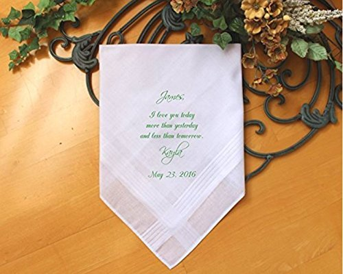 Groom wedding gift from the Bride-Wedding Handkerchief-PRINTED-CUSTOMIZE-Wedding Hankerchief-Wedding Gift for groom-Bride Gift to-MS1FCAC by Snugahug[45]
