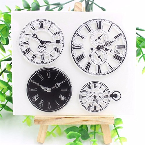 Clocks Transparent Clear Silicone Stamps for DIY Scrapbooking/Card Making/Kids Christmas Fun Decoration Supplies (Maison De Mickey Halloween)
