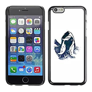 TopCaseStore / la caja del caucho duro de la cubierta de protección de la piel - Mysterious Character Hero Blue White Hood - Apple iPhone 6 Plus 5.5