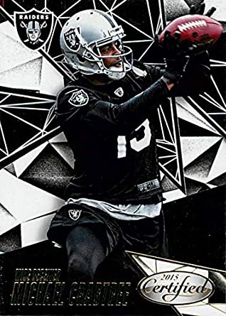 Amazon.com  Football NFL 2015 Panini Certified  93 Michael Crabtree ... 45cbc10e9
