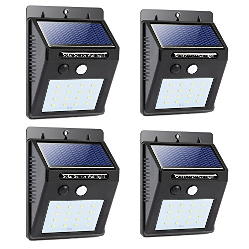 Waterproof 6 Solar Power Light Sensor Wall Light - 3