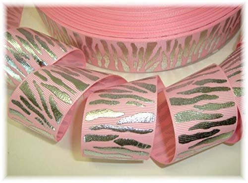 (Ribbon Art Craft Perfect Solution for Any Project Decoration 1 Yard 1.5 Pink Princess Silver Glitz Zebra Grosgrain Ribbon 4 HAIRBOW Bow)