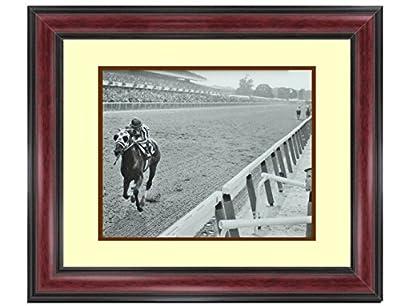 Secretariat Wins At Belmont Framed Classic Photos Vintage Rare Find 14 x 17