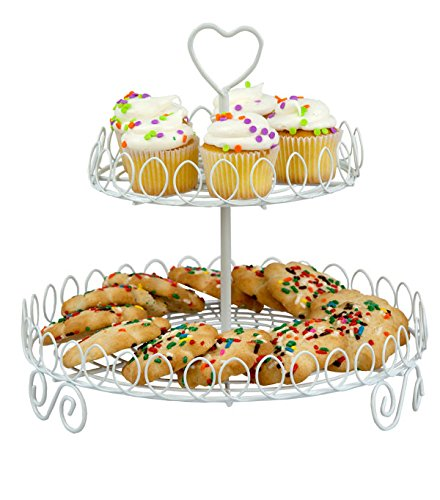 Home Basics CH44015 2-Tier Cupcake Stand