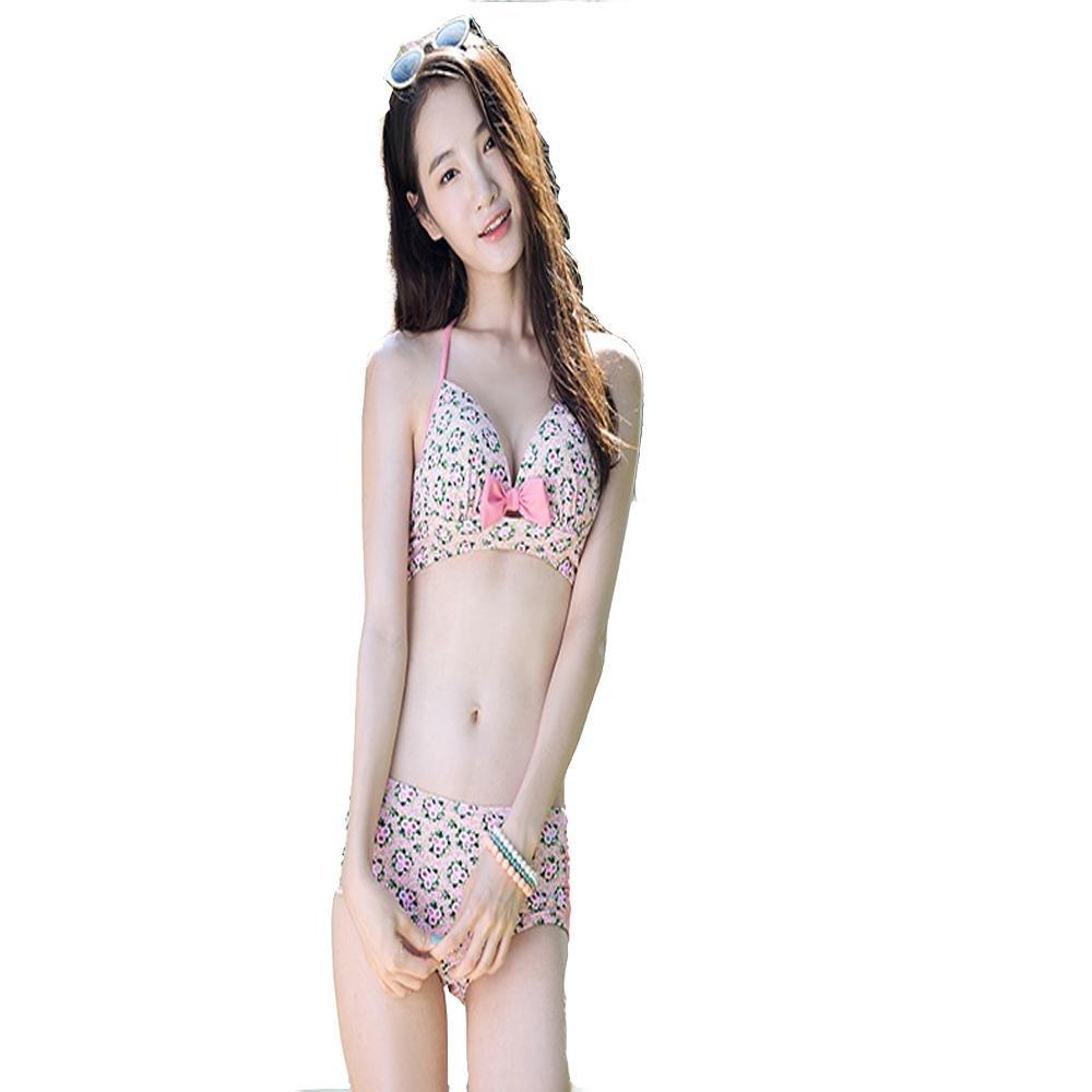 HTWWJ Bademode Damen Bikini Drei-Stück Bikini Rock sammelt Stahl Hot Spring Bademode , l