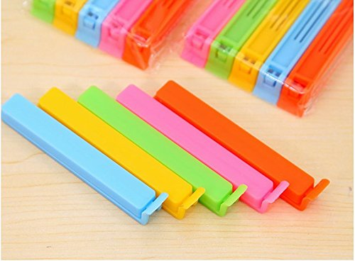 TFXWERWS Colorful Plastic Food Sealing Bag Clip