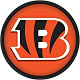 "Licensed MLB Cincinnati Bengals Party Round Luncheon Plates Tableware, Paper, 9"", Pack of 8"
