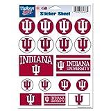 "NCAA Indiana University Vinyl Sticker Sheet, 5"" x 7"""