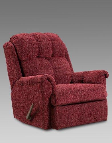 Chelsea Home Furniture Rocker Recliner, Tahoe Wine (Red Tahoe Glove)