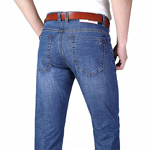 XYJD Men's Straight Barrel Jean for Business and Leisure in Summer by XYJD (Image #6)
