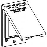 Orbit 1C-GV-BR Electric Box Cover, Decora Receptacle Vertical Zinc Weatherproof - 1-Gang - Bronze