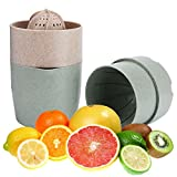 Cheap Manual Juicer, Citrus Juicer Manual Press Lid Rotation Reamer Hand Fruit Squeezer with Strainer and Container for Orange, Lemon, Lime, Tangerines, Grapefruits, Blue-green