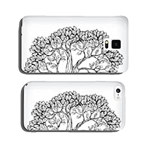 Hand drawn tree symbol cell phone cover case Samsung S6