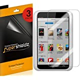 [3-Pack] Supershieldz- Anti-Glare & Anti-Fingerprint (Matte) Screen Protector for Barnes & Noble Nook HD 7 inch + Lifetime Replacements Warranty [3-PACK] - Retail Packaging