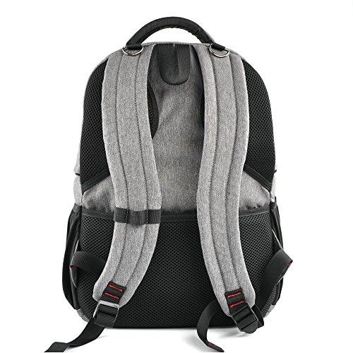 YuHan - Mochila con aislante para cochecito de bebé, tejido oxford, para llevar los pañales y cambiador gris gris