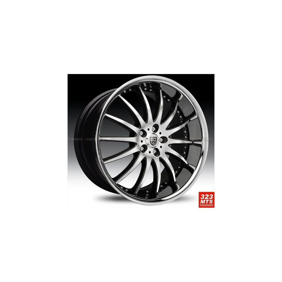 Lexani Lx14 20x10 Range Rover Wheels Rims Black Machine & Chrome Lip Wheels 4pc 1set