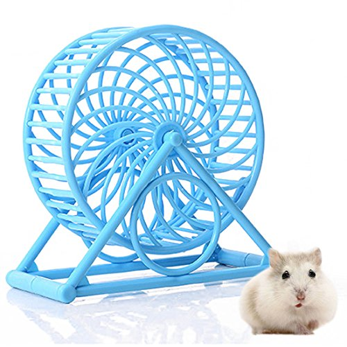 Tread Wheel (Pet Comfort Exercise Wheel Small Pet Tread Exercise Wheel for Hamsters Gerbils Chinchillas Hedgehogs Mice and Other Small Animals (Blue))