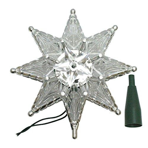 (Kurt Adler 10-Light 8-Point Star Christmas Treetop, 8-Inch, Clear)