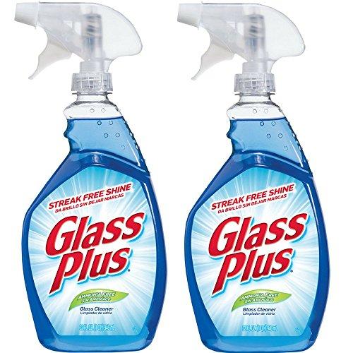 32 Oz Glass Plus Cleaner (Glass Plus Glass Cleaner, 32 fl oz Bottle, Multi-Surface Glass Cleaner (Pack of 2))