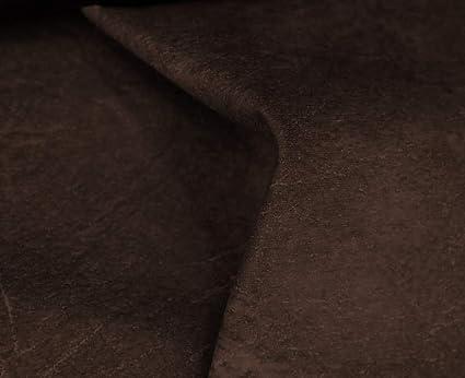 HAPPERS 1 Metro de Polipiel para tapizar, Manualidades, Cojines o forrar Objetos. Venta de Polipiel por Metros. Diseño Sugan Color Marrón Ancho 140cm