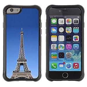"""Hypernova Defender Series TPU protection Cas Case Coque pour Apple Iphone 6 [Arquitectura La torre Eiffel tour""""]"""