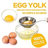 egg separator egg white yolk filter separator 18/8 stainless steel egg sieve kitchen gadget cooking
