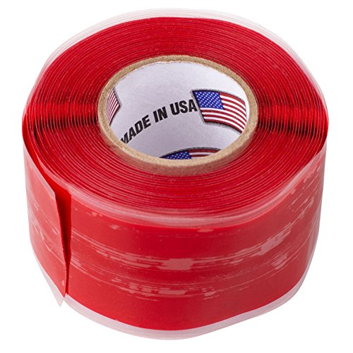 "Parts Express Self-Fusing Silicone Rubber Tape 1"" x 10 ft. Roll Red"