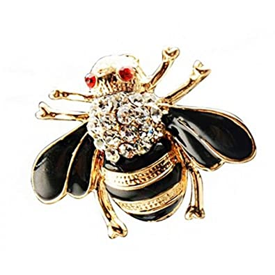 55e70fd7e TOOGOO(R) Women Vintage Brooch Bee Brooch Alloy And Diamond Brooch ...