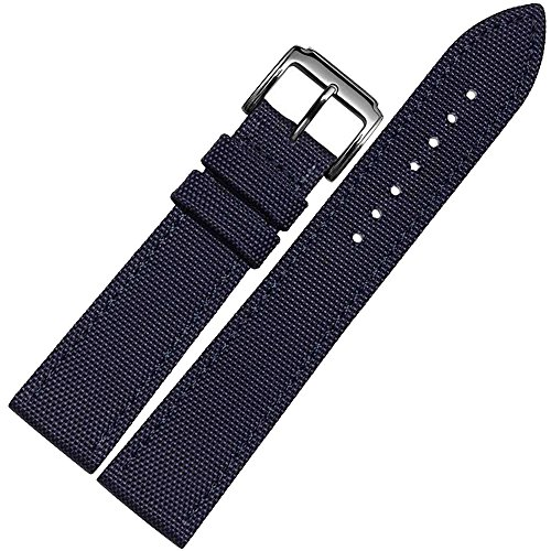 4 Colors of 18mm,20mm 22mm Nylon Canvas Watch Band Strap Generic for IWC/Luminox/Swiss Army