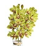 Htmeing-2pcs-10-Heads-Artificial-Cymbidium-Orchids-Flowers-Plant-Branches-Stems-for-Wedding-Centerpieces-Floral-Arrangement