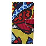 Alcatel Case, Candy House Alcatel OneTouch Idol 3 5.5 inch Case Cartoon Butterfly Wing Pattern Horizontal Wallet Case Magnetic Closure Flip Cover
