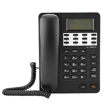 ASHATA Teléfono Fijo con Cable, Teléfono de Sobremesa con Sistema ...