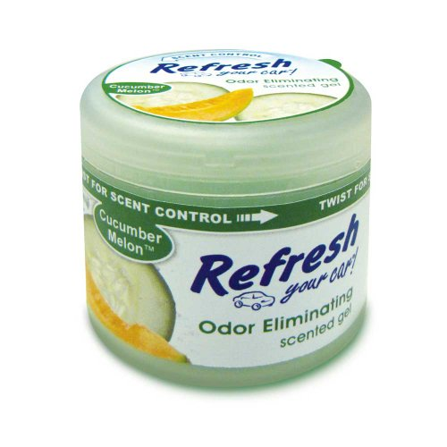Refresh Your Car 4.5 oz Scented Gel Car and Home Air Freshener - Cucumber Melon Scent