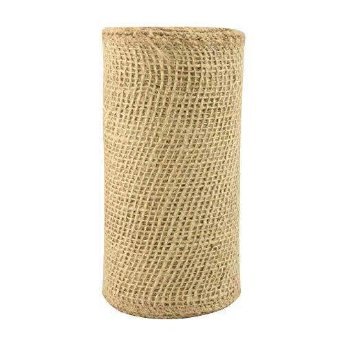 (Natural Jute Fabric Burlap Ribbon - 6
