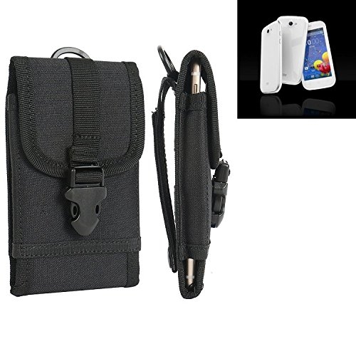 bolsa del cinturón / funda para MobiWire Cygnus, negro   caja del teléfono cubierta protectora bolso - K-S-Trade (TM)