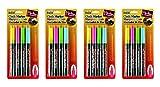Uchida Bistro Chalk Marker Fine Point Set 4/Pkg-Fluorescent Pink, Blue, Green and Yellow (Fоur Paсk)