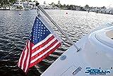 SeaLux Marine Boat 30'' Flag Stanchion Pole and 90° Flush Mounting Socket (OEM) (Flag Pole and Socket SET)