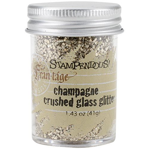 Stampendous Glass Glitter 1.43 Ounces-Champagne (Crushed Glitter Glass)