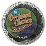 Blue Ribbon Orchard Choice California Mission Figs, 8-Ounce Cup (Pack of 6)