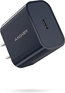 iPhone 12 Charger, Amoner Fast 20W PD USB C Wall Charger PD3.0 Type C Charger Compatible with iPhone 12/12mini/12Pro/12ProMax/11/11Pro/11ProMax/SE/XR/XS/X/8, Galaxy S20/S10/Note 20