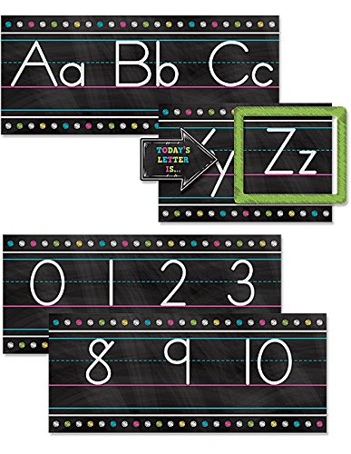 Teacher Created Resources Chalkboard Brights Alphabet Line Bulletin Board (Teacher Chalkboard)