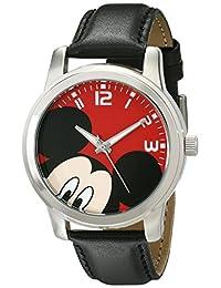 Disney unisex w001842Mickey Mouse Analog Display Analog Cuarzo Negro Reloj