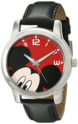 (Disney Unisex W001842 Mickey Mouse Analog Display Analog Quartz Black Watch )