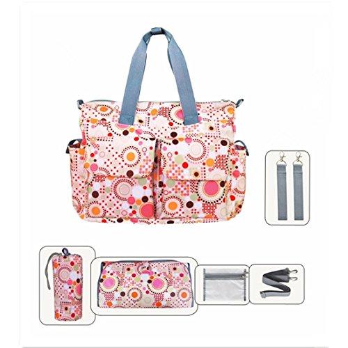 My Share Mall - Bolso cambiador, diseño floral rosa rosa