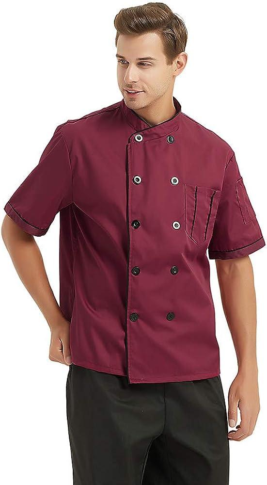 TOPTIE Manteau de Cuisinier /à Manches Courtes de Cuisinier