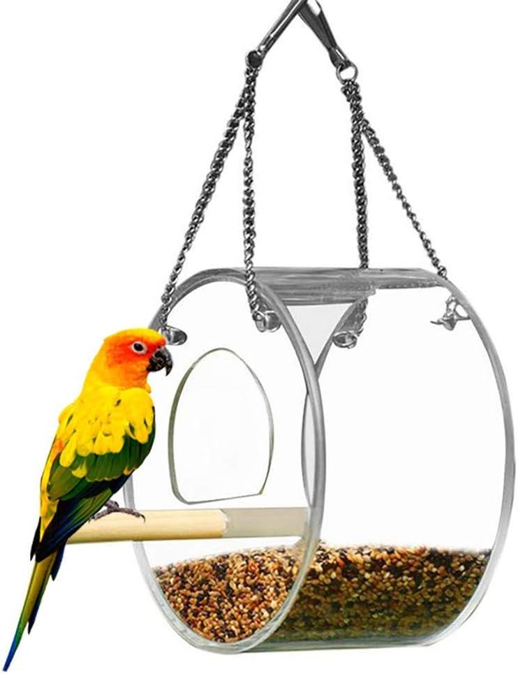 AOOCEEH Bebedero Pajaros Comedero Pajaros Exterior Jeringa para Pájaros Comederos para Pajaros Bebederos para Pajaros Comedero Exterior Farolillo Comedero/Bebedero PáJaros Round
