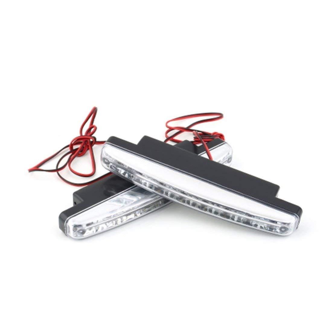 vbncvbfghfgh Universal 12V 8 x LED Auto Coche Luces de circulaci/ón Diurna Faros antiniebla Luz de conducci/ón del autom/óvil L/ámpara Auxiliar con luz Super Blanca Caliente