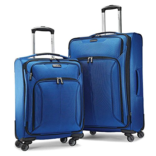 Samsonite Ultralite Extreme 2 Piece Softside Spinner 4 Wheel Luggage Set (21' & 27' 2-pc spinner, Blue)