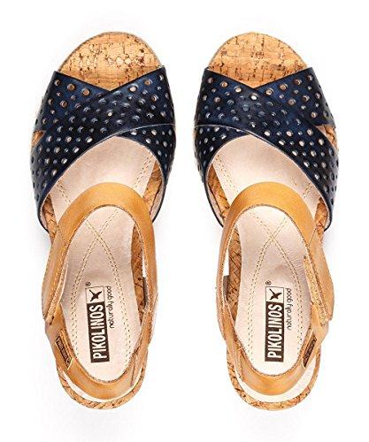 PIKOLINOS W3L-0952 Sandalias de cuña Mujer, COLOR: BLUE, TALLA: 35 Blue
